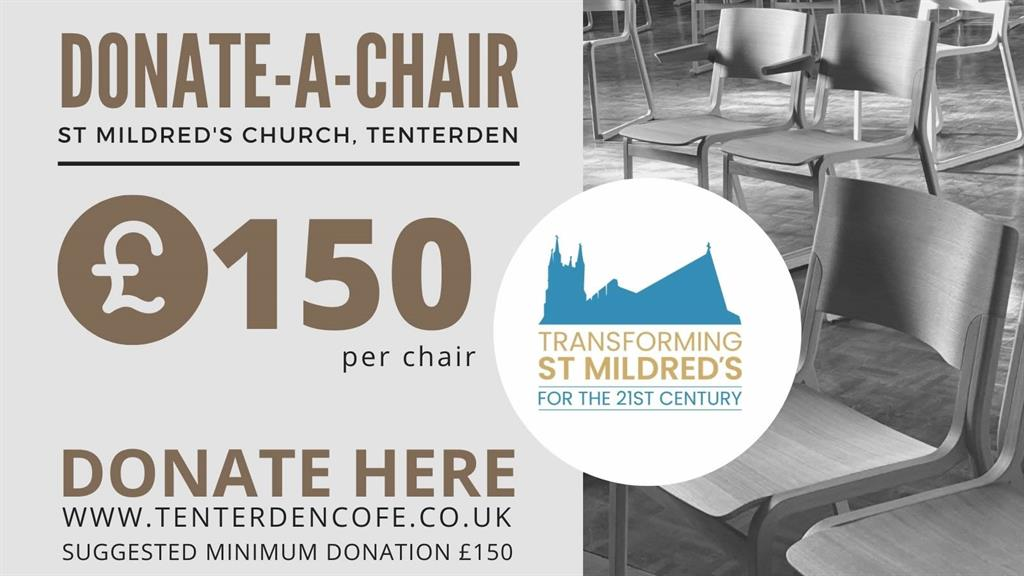 Donate a Chair transformingSt Mildreds Church for the 21st century
