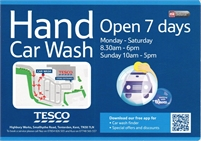 Hand Car Wash at Tesco