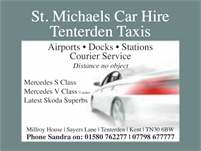 St Michaels Private Car Hire and Tenterden Taxis