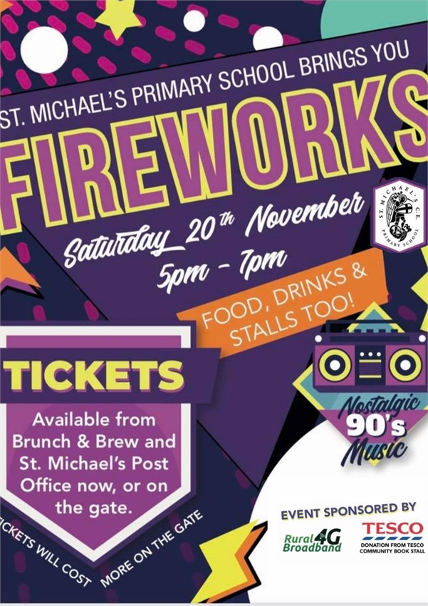 St Michaels Fireworks Night   Tenterden - Tenterden, Kent