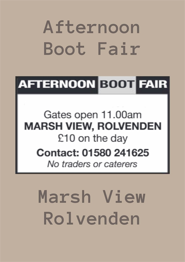 Afternoon Boot Fair
