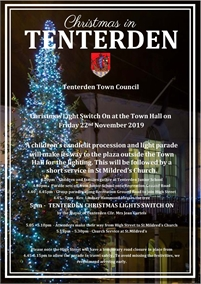 Tenterden Town Christmas Lights Switch on