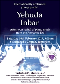 Afternoon Piano Recital by Yehuda lnbar | Friends of St Mildreds