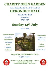 Open Garden in aid of Tenterden Social Hub