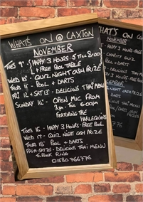 Whats On at The Caxton Tenterden