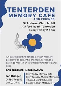 Tenterden Memory Cafe   Tenterden Dementia