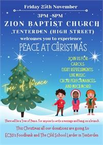 Nativity Service at the Zion Baptist Church