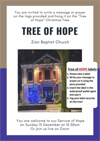 Tree of Hope | Zion Baptist Church