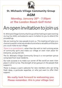 St Michaels Village Community Group AGM