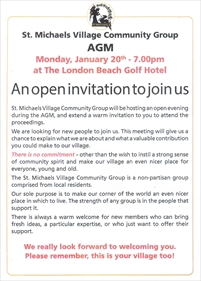St Michaels Village Community Group AGM