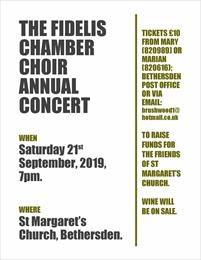The Fidelis Chamber Choir Annual Concert | Bethersden