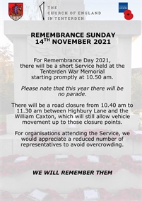 Remembrance Sunday 2020