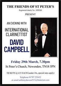 An Evening with International Clarinettist David Campbell | Newenden