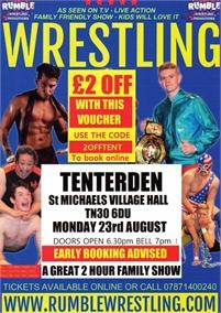 Rumble Wrestling returns to St Michaels, Tenterden