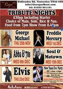 Tribute Nights at the Raja of Kent