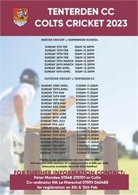 Colts Cricket   Tenterden Cricket Club Winter Nets