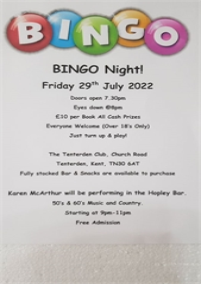 Bingo | Tenterden Club