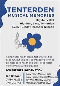 Musical Memories   Tenterden Dementia Friendly