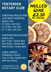 Tenterden Rotary Christmas Street Collections & Mulled Wine
