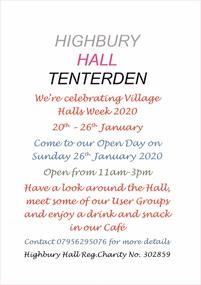 Village Halls Week Open Day