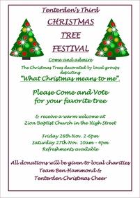 Christmas Tree Festival | Tenterden Christmas Market