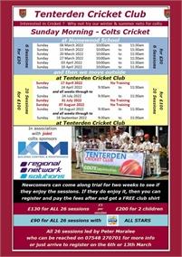 Colts Cricket | Tenterden Cricket Club Summer Nets