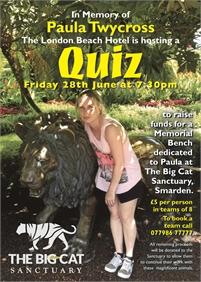 Quiz for Paula Twycross Memorial Bench