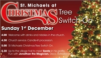 St Michaels at Christmas   Lights Switch On