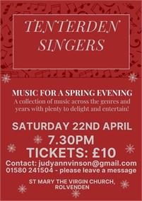 Tenterden Singers Spring Concert
