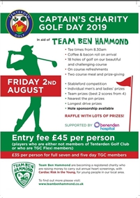 Captains Charity Golf Day 2019
