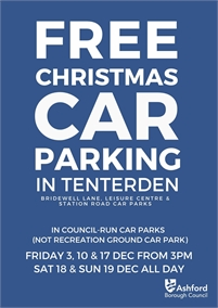 Free Sunday Christmas Parking   Tenterden