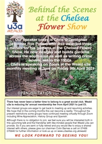 Weald U3A Monthly Meeting