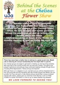 Weald U3A Monthly Meeting