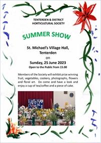 Summer Show | Tenterden & District Horticultural Society