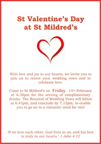 St Valentine's Day at St Mildreds