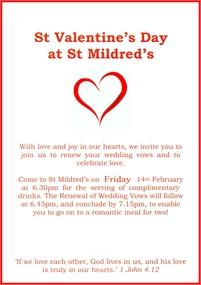 Valentine's Day at St Mildreds