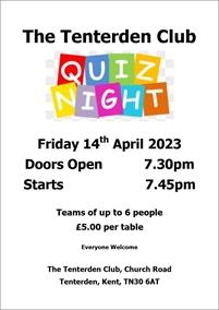 Quiz Night | The Tenterden Club