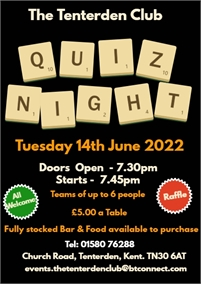 Quiz Night | The Tenterden Club