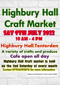 Highbury Hall Craft Market | Tenterden