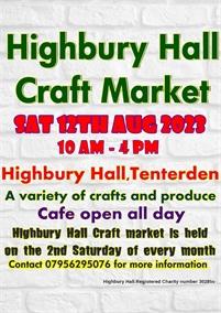 Highbury Hall Craft Market   Tenterden