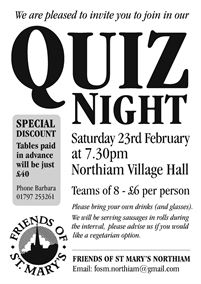 Quiz Night | Friends of St Mary's Northiam