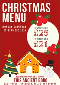 Christmas Lunches and Dinner | This Ancient Boro