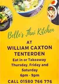 Belles Thai Kitchen   William Caxton Pub
