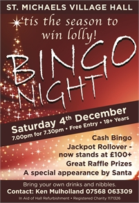 Bingo | St Michaels Village Hall