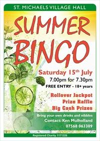 Bingo at St Michaels Village Hall