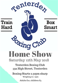 Tenterden Amateur Boxing Club Home Show