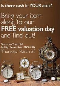 Free Valuation Days   Tenterden Town Hall