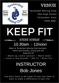 Keep Fit with Tenterden Amateur Boxing Club
