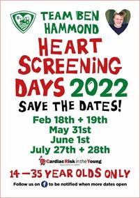 Team Ben Hammond Heart Screening Days