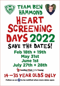 Team Ben Hammond Heart Screening Day
